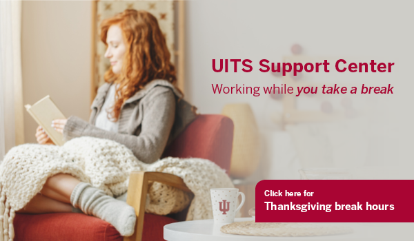 UITS Support Center: working while you take a break