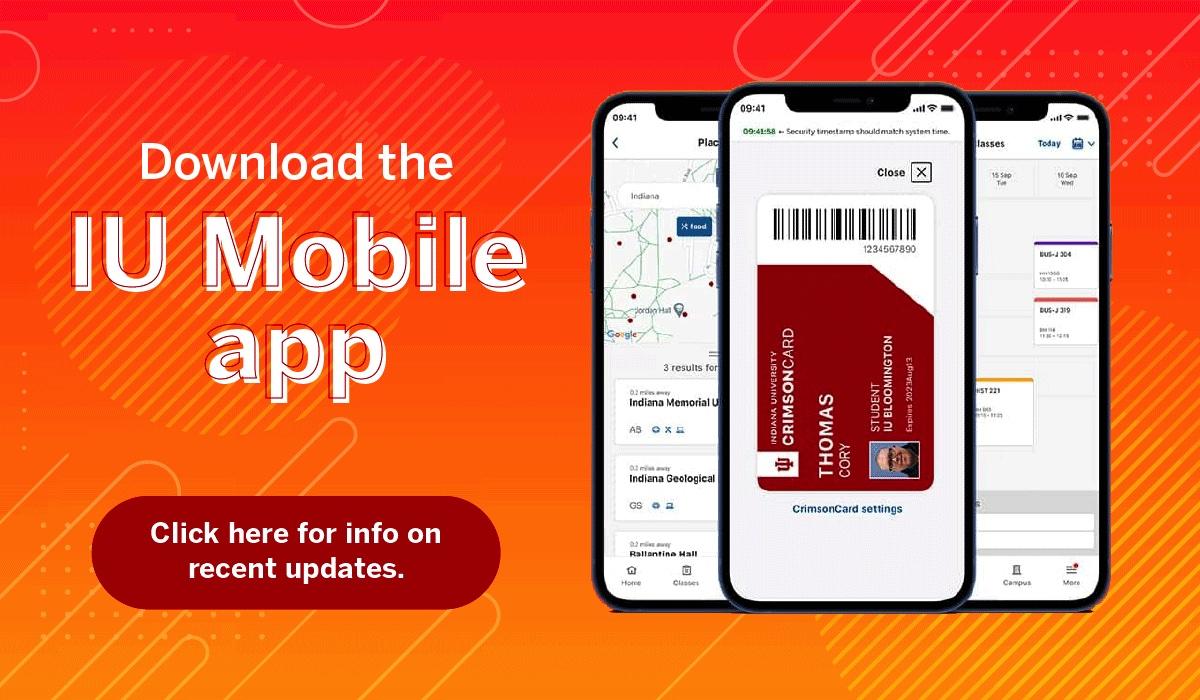 Download the IU Mobile app